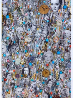 Turquoise and Orange Dots Collage