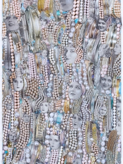 Silence and Pearls Collage